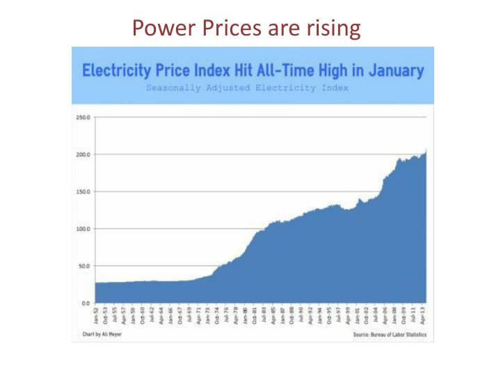 Power Prices are rising