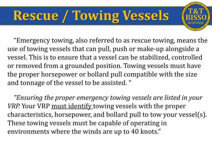 Rescue / Towing Vessels