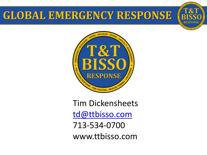 GLOBAL EMERGENCY RESPONSE