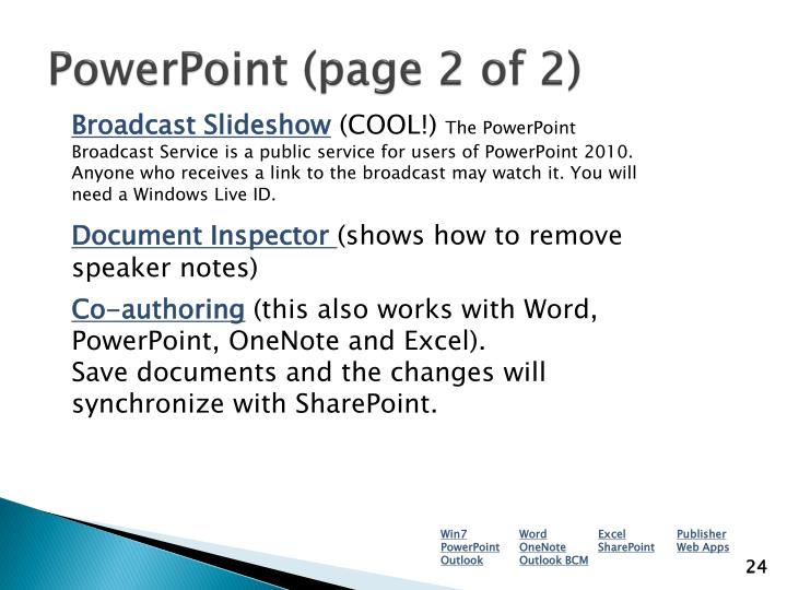 PowerPoint (page