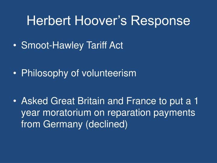 Herbert Hoover's Response