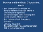 hoover and the great depression cont d