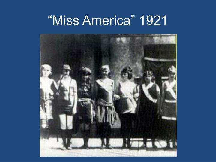 """Miss America"" 1921"