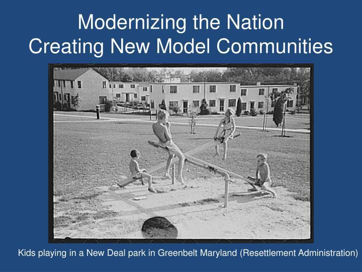 Modernizing the Nation