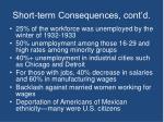 short term consequences cont d