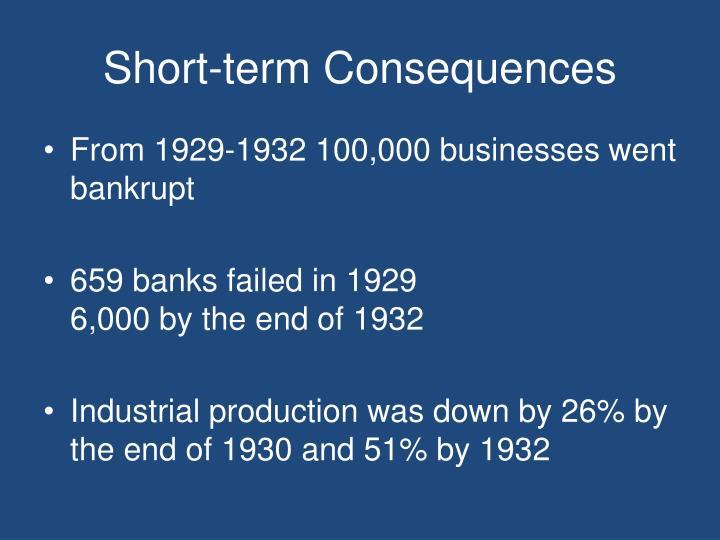 Short-term Consequences