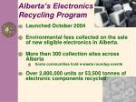 alberta s electronics recycling program
