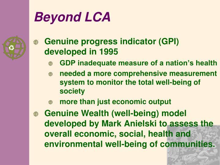 Beyond LCA