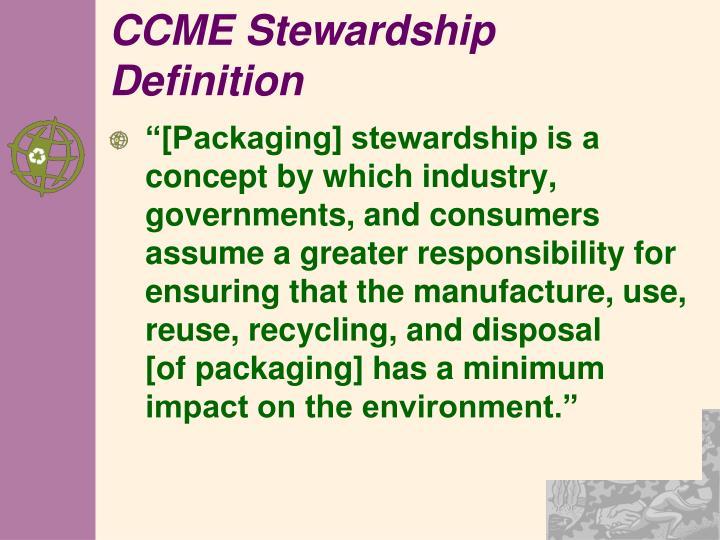 CCME Stewardship Definition