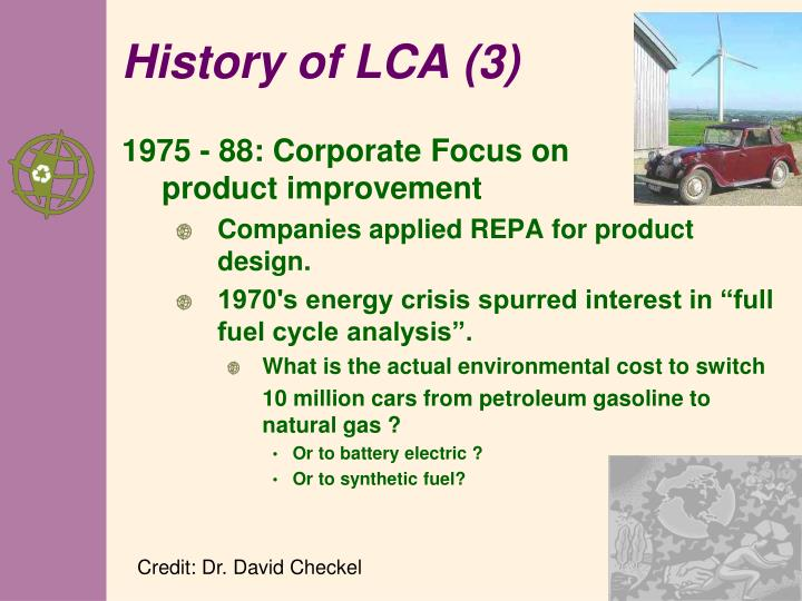 History of LCA (3)