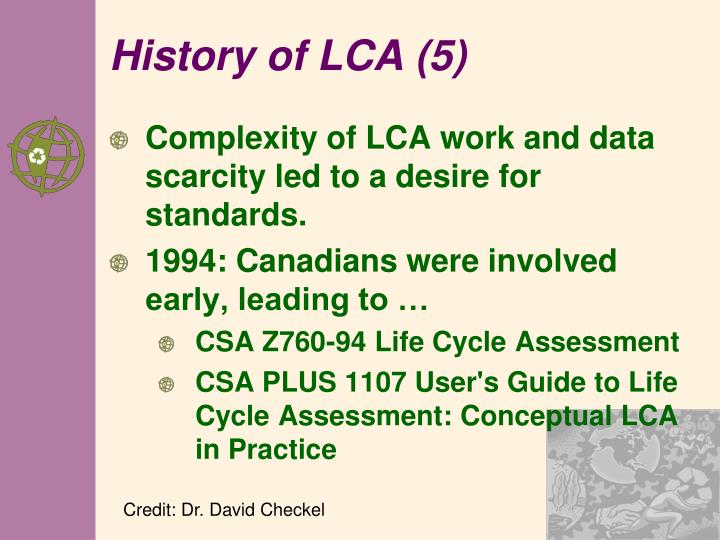 History of LCA (5)
