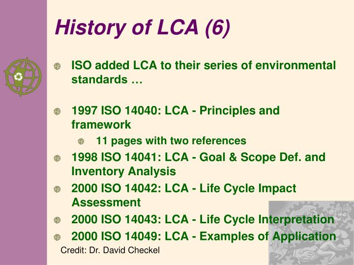 History of LCA (6)