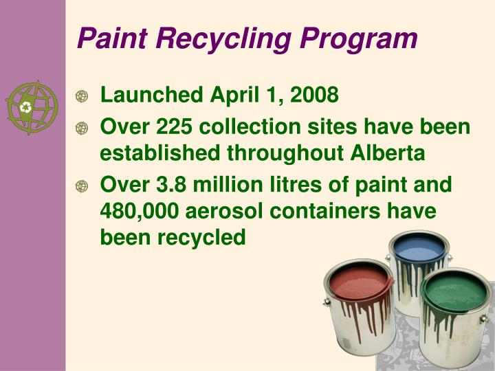 Paint Recycling Program