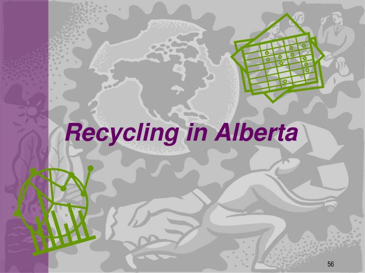 Recycling in Alberta
