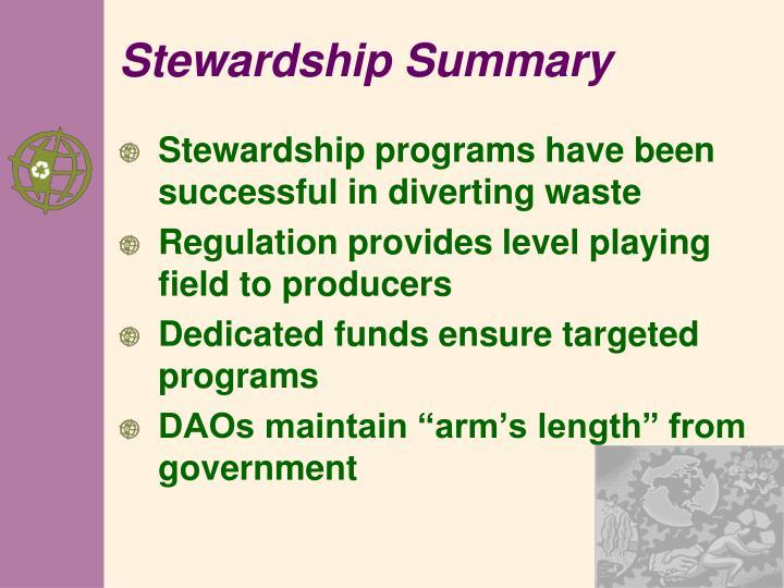 Stewardship Summary