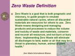 zero waste definition