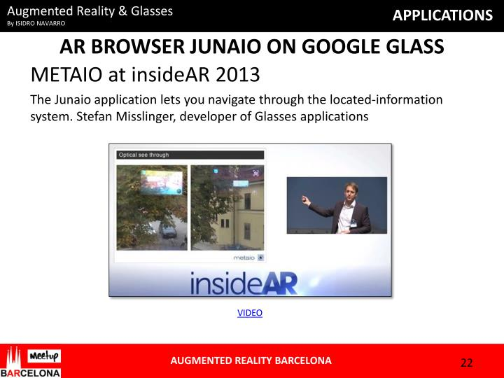 AR BROWSER JUNAIO ON GOOGLE GLASS