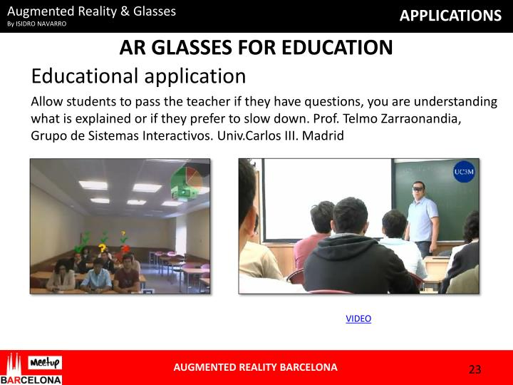 AR GLASSES FOR EDUCATION