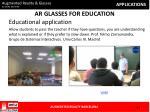 ar glasses for education
