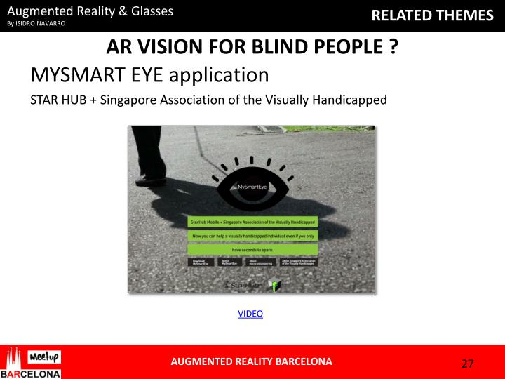 AR VISION FOR BLIND PEOPLE ?