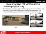 head up display for safety driving