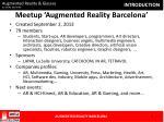 meetup augmented reality barcelona