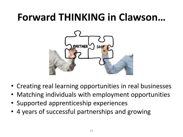 Forward THINKING in Clawson…