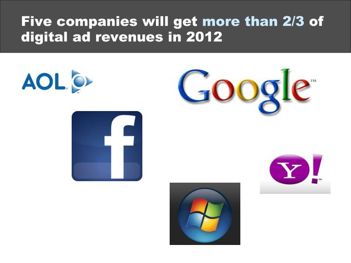 Five companies will get