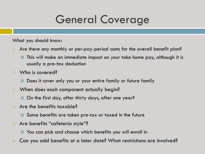General Coverage