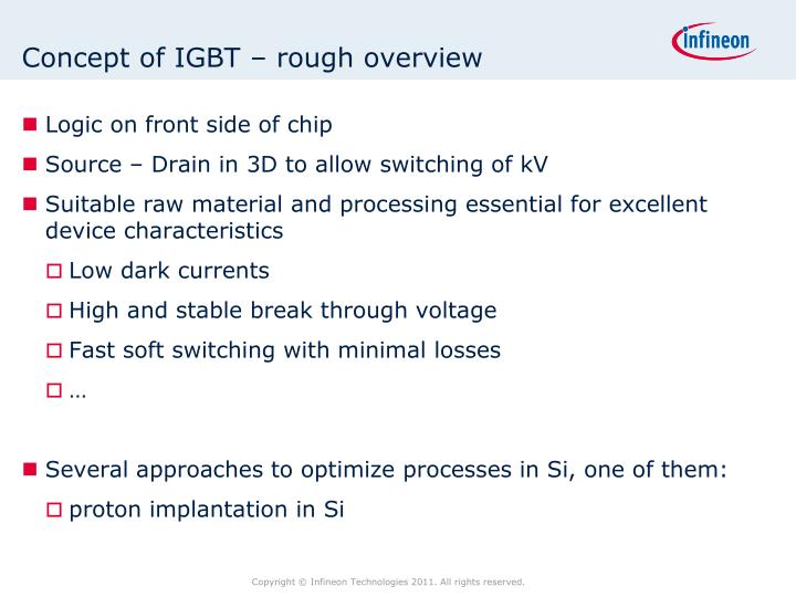 Concept of IGBT – rough overview