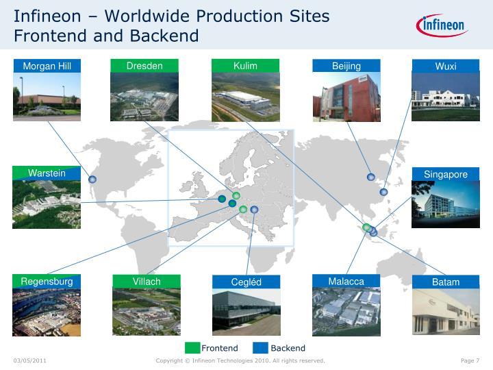 Infineon – Worldwide Production Sites