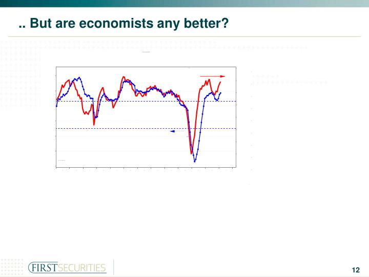 .. But are economists any better?