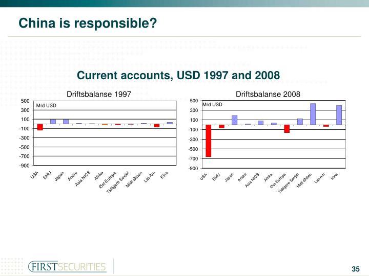 China is responsible?