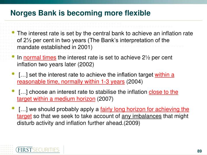 Norges Bank is becoming more flexible