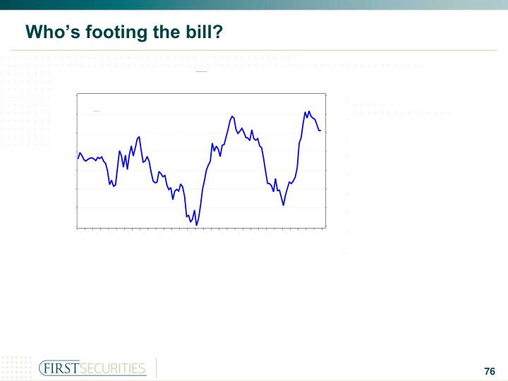 Who's footing the bill?