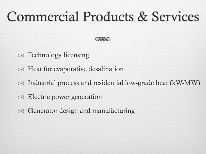Commercial Products & Services