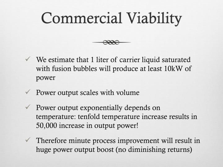 Commercial Viability