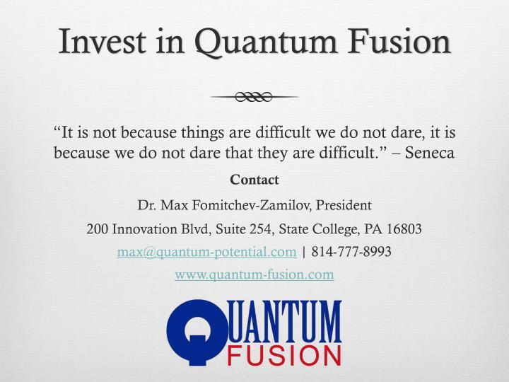 Invest in Quantum Fusion