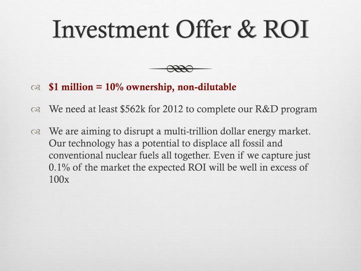 Investment Offer & ROI