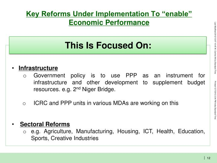 "Key Reforms Under Implementation To ""enable"" Economic Performance"