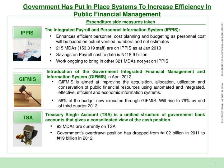 Government Has Put In Place Systems To Increase Efficiency In