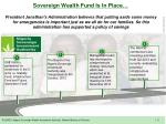 sovereign wealth fund is i n place