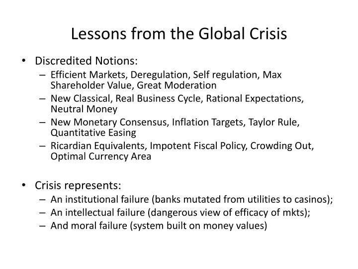 Lessons from the Global