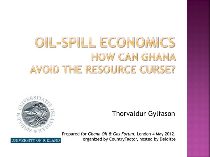 Oil-spill economics