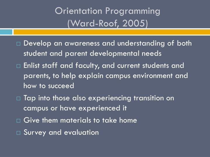 Orientation Programming
