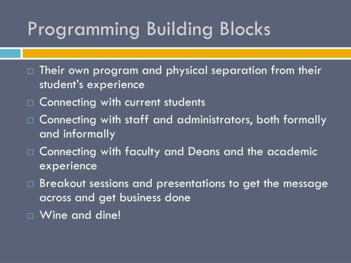 Programming Building Blocks