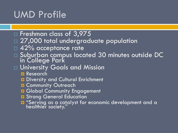 UMD Profile