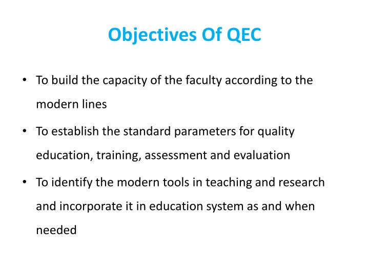 Objectives Of QEC