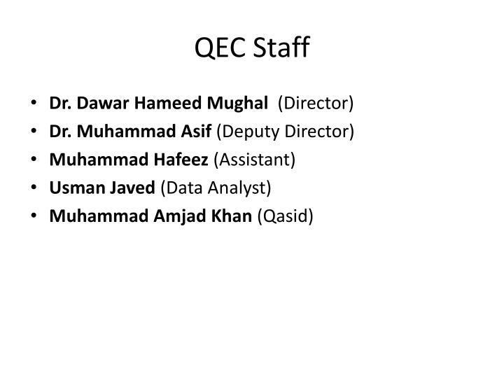 QEC Staff