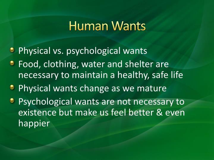 Human Wants